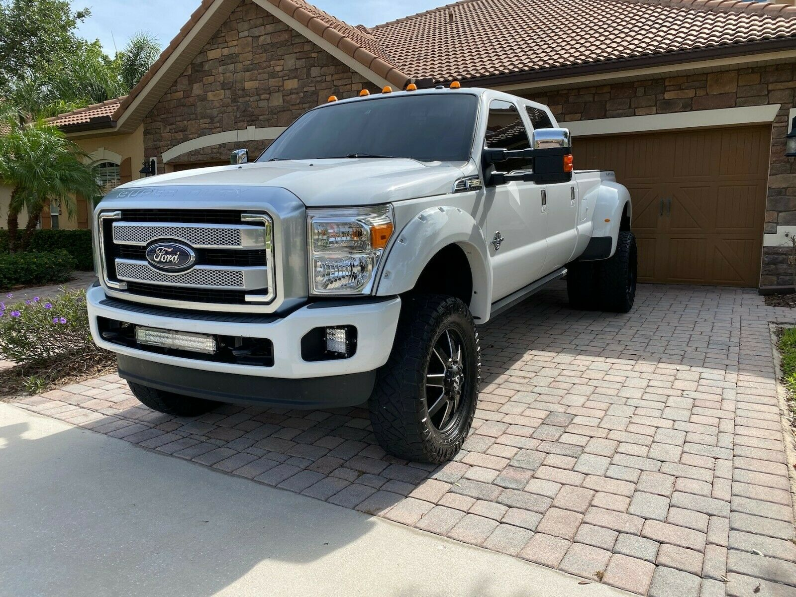 carefully maintained 2011 Ford F 350 Platinum lifted for sale