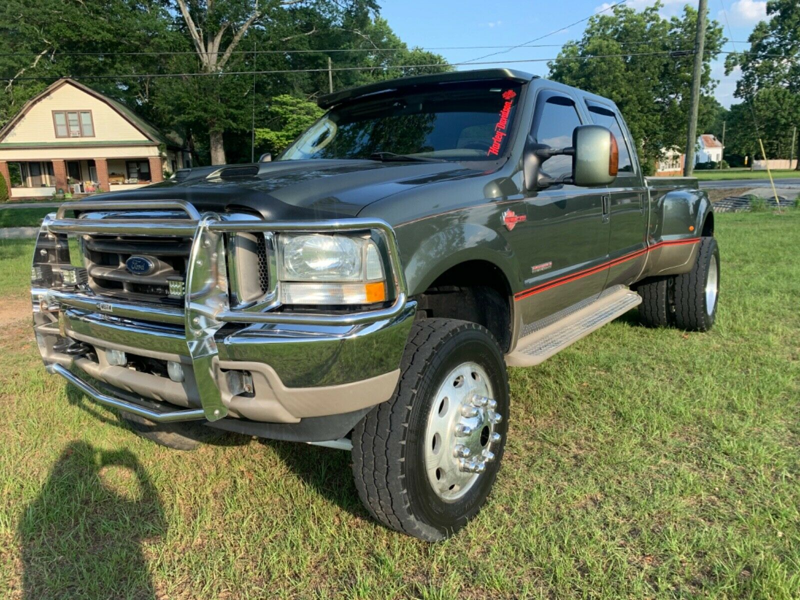 one of a kind 2003 Ford F 350 Harley Davidson lifted